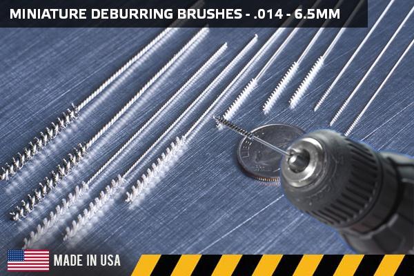 Miniature Cross-Hole Deburring Brushes