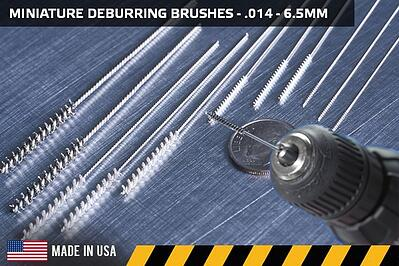 Miniature Cross-Hole Deburring Brushes